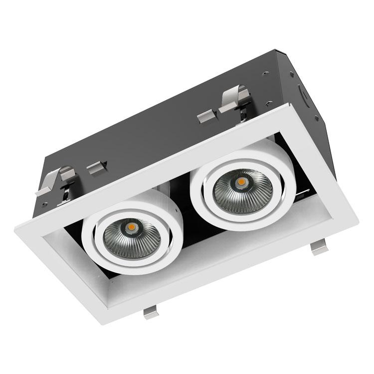 DG4002A LED长格栅灯、一分利格栅灯、一体led格栅灯盘