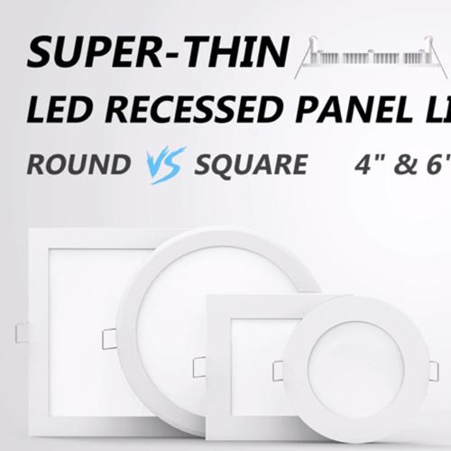 圆形方形LED超薄筒灯面板灯